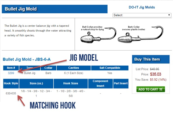 Jig Matching Hook