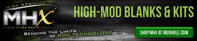Product Review MHX High-Mod Rod Blanks Ad