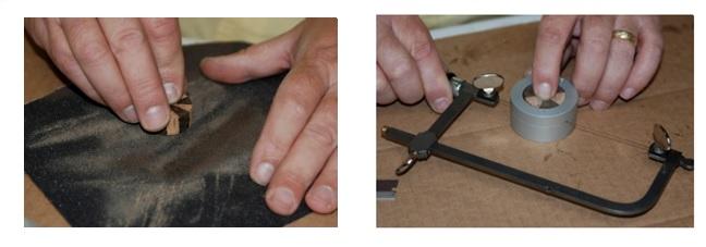 Sanding Slicing Cork Rings
