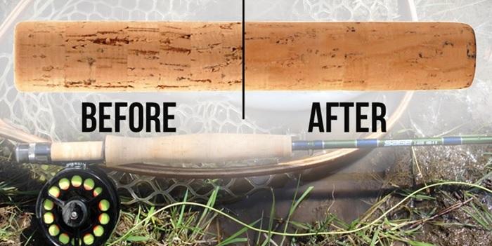 Repair your fishing rod handles this winter mud hole blog for Cork fishing rod handles