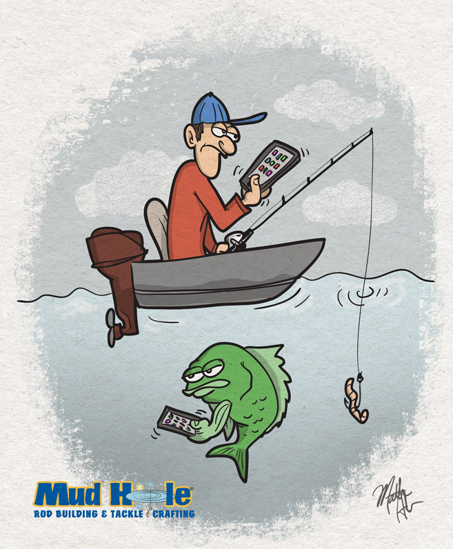 Guy and Fish With Phone Apps