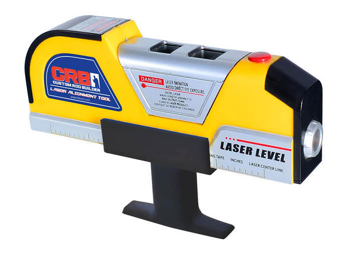 The CRB Laser Alignment Tool is perfect for aligning your guides and will mount directly onto your reel seat.