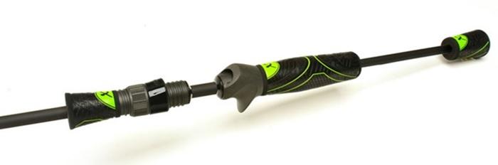 The MHX Winn Grips keep the free feel of the Fuji SK2 Reel Seat, but add a weatherproof texture.