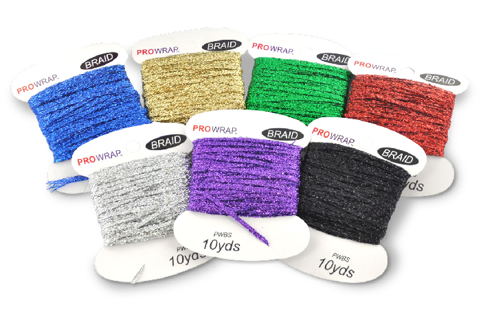 This 7-piece color kit comes with highly reflective braid in the following colors: Gold, Green, Red, Black, Blue, Purple, and Silver.