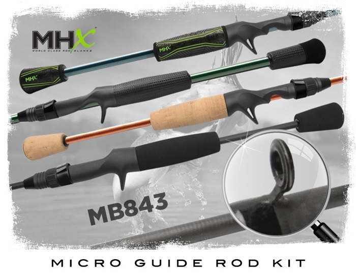 Catch one of fishing's favorite blanks, the MB843, now in Micro Rod Kits and available in many cool colors.