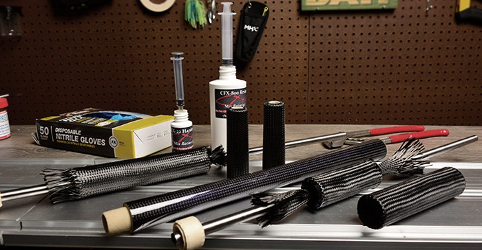 How to Build DIY Carbon Fiber Fishing Grips - Mud Hole Blog