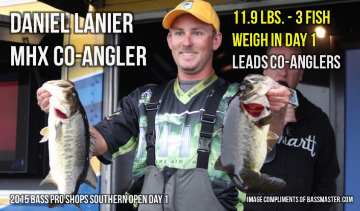 Daniel Lanier Co-Angler 11-9 Weigh In Day 1