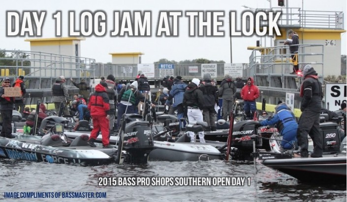 Day 1 Log Jam at the Lock